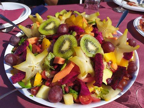 ensalada tropical de frutas
