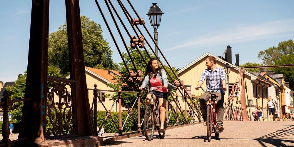 Cycling in Uppsala - Photo by Cecilia Larsson Lantz/imagebank.sweden.se