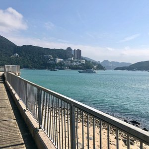 Heading towards Deep Water Bay beach on the Mills and Chung Path. This is a very scenic 20 minute stroll along the coastline on the southern side of Hong Kong island.