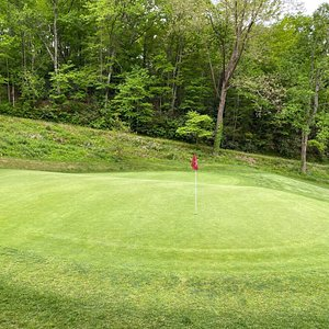 Hole No. 11 green is a two tier green -challenging.