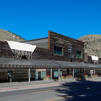 The entrance to Jackson Hole Historical Society & Museum on Cache St in downtown.