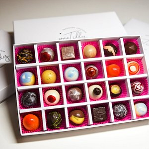 Our Luxury 24 Box Selection of Handcrafted Chocolate BonBons.