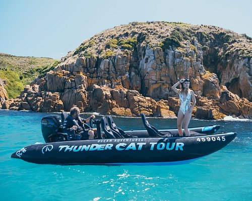 The new Thundercat  at Cape Woolamai with Minet about to jump on a seascooter snorkel tour