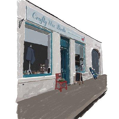 Artist impression of shop front
