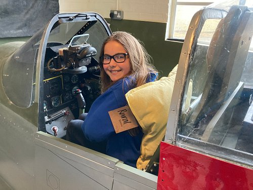 Sit in the cockpit of a WW2 Mustang fighter.