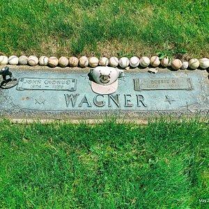 The legendary Pittsburgh Pirates baseball player John Honus Wagner