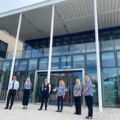 Visitor Services Team at the Welcome Building