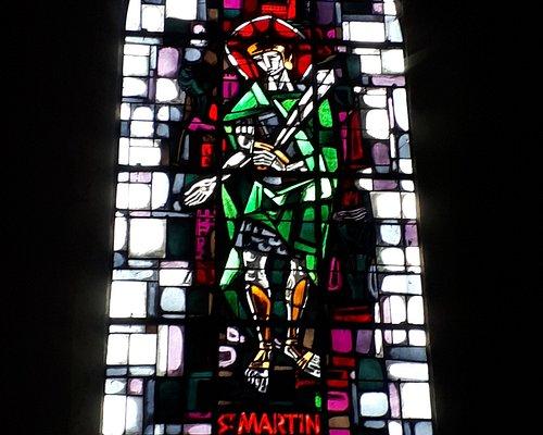 Saint Martin - vitrail de l'Eglise Saint Martin