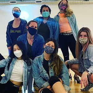 Thursday night heels class wore denim to show their support for survivors of sexual assault in honor of Denim Day. Thursday night's heels class always aims to empower women and make anyone who walks through the door leave feeling confident!