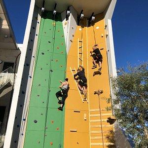 A 5 course climbing wall!