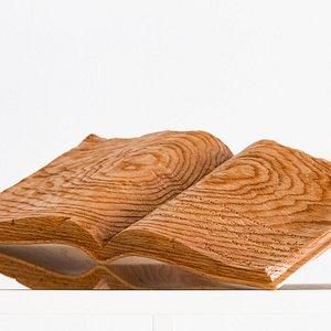 Wooden Sculpture. Object: Handmade of red Oak. Book with engraved lyrics from the «Ode to Santorini» by the poet Odysseus Elytis.  Ξυλόγλυπτο διακοσμητικό. Αντικείμενο: Χειροποίητο από κόκκινη Δρυ. Βιβλίο με χαραγμένους στίχος από την «Ωδή στη Σαντορίνη» του Οδυσσέα Ελύτη.