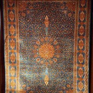 Beautiful cashmere silk on silk carpet
