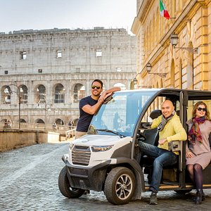 Golf cart at the Colosseum