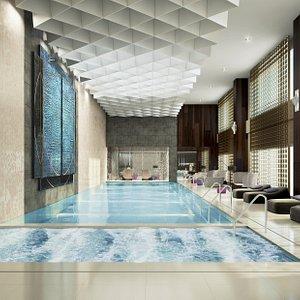 Indoor women swimming pool