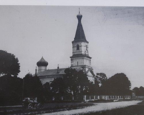 Bild på hur kyrkan såg ut under förra seklet.