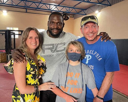 This is Gregory with myself, my husband and our son.  We also brought a friend and her daughter.  We all had a little boxing lesson from Gregory.  I'm not sure who had more fun....the kids or the Moms!