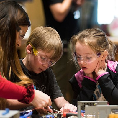 Guests learn about science through hands-on experiences.