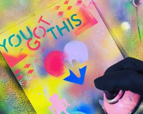 Time to let loose and spray paint your very own creation! Don't worry we guide you along the way.