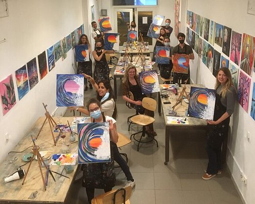Great group painting The Wave