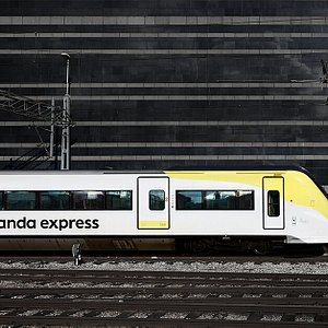 Arlanda express entering Stockholm City.