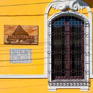 Front Sign of Mombacho Cigars on Mansión Mombacho