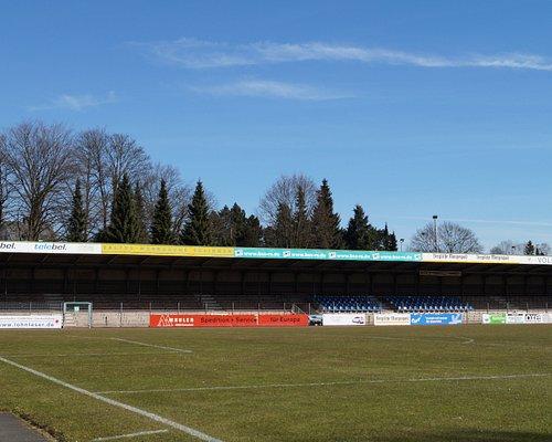 Das Röntgen-Stadion in Remscheid-Lennep, Spielstätte des ehemaligen Fußball-Zweitligisten FC Remscheid e.V.