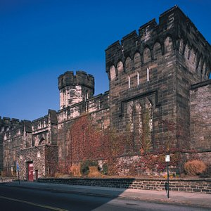 The facade of Eastern State Penitentiary. Photo by Albert Vecerka.
