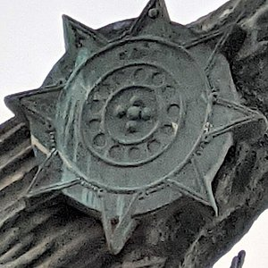 Eight-pointed star on The Millennia statue.
