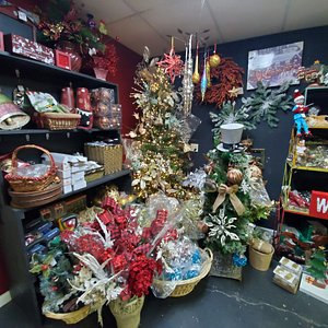 Bill Lewis of Vero Beach, Florida, spending some free time checking out Four Seasons Christmas Garden Decor & More in Hendersonville, North Carolina.