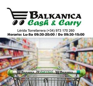 Cash & Carry Balkanica Torrefarrera, gran variedad de productos rumanos, búlgaros y polacos.