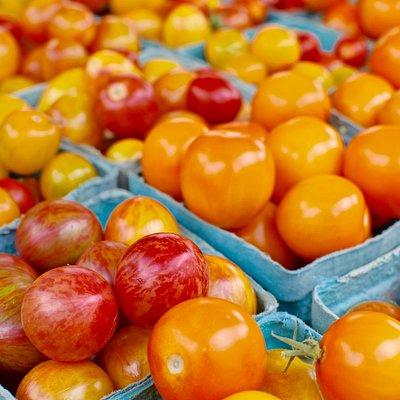 Beautiful heirloom cherry tomatoes