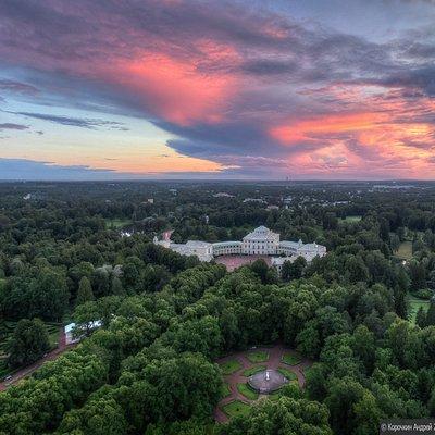 Вид на Павловский дворцово-парковый ансамбль фото Андрей Корочкин