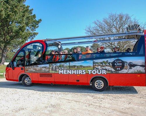 bus cabriolet menhirs tour à Carnac