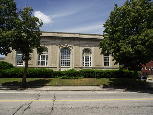 NH - DOVER - DOVER POST OFFICE - BUILDING FROM WASHINGTON STREET