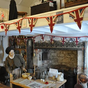 The Museum is housed in an old C18th cottage which is re-created in part by this montage.
