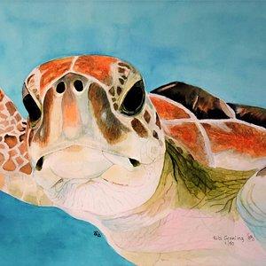 Watercolor by Bibi Gromling