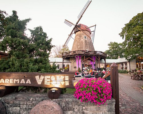 The windmill from the year 1899 - The sightseeing and popular dining place in Kuressaare