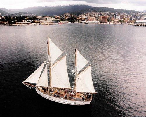 Cool day sailing on SV Rhona H