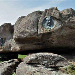 Médaillon sur le rocher