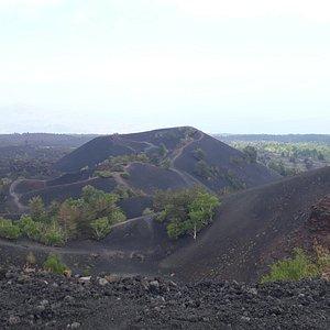 vista dal cratere più alto dei monti sartoria
