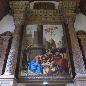 """retable avec """"L'adoration des bergers"""" par Laurent LA HIRE (1606-1656)"""