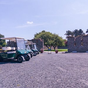 Celbridge Elm Hall Golf Club Buggys and course entrance