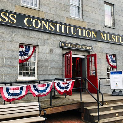 Entrance to the USS Constitution Museum.