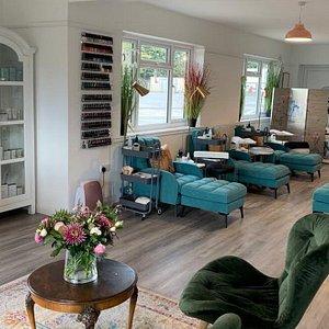 The Glorious Spa manicure and pedicure area.