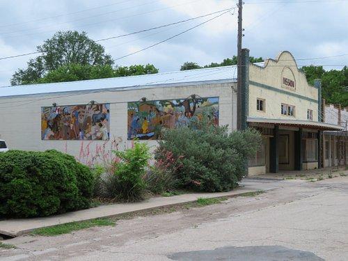 Historic 1927 Mission Theater, Menard, TX, May 2021