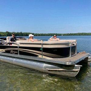 One of our new pontoon boats