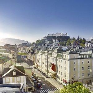 Hotel Sacher Salzburg and Fortress