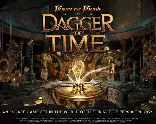 Prince of Persia: The Dagger Of Time is a Virtual Reality Escape Game set in the world of Prince of Persia which enables you to experience time control. You will be able to experience something impossible in real life: to slow, stop or even rewind time!  The Dagger of Time takes place in the setting of the Prince of Persia Trilogy (Sands of Time, Warrior Within, The Two Thrones). Players are summoned to the Fortress of Time by Kaileena to stop an evil Magi. Kaileena restores and gives the Dagger