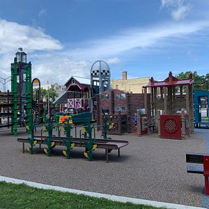 Very fun park. Highly recommend. Nice public restrooms across the parking lot also.