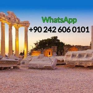 Book online tours in Side. Whatsapp +90 242 606 0101